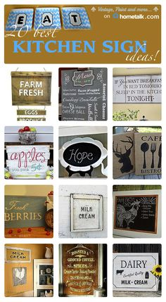 Easy decorative kitchen signs you won't want to miss!