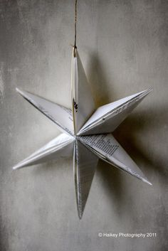 #BookPage folded star :: Haikeys Home and Garden