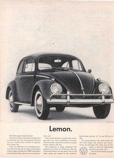 Volkswagen of America  (A) Doyle Dane Bernbach, New York  (Ad) Helmut Krone  (P) Wingate Paine    circa 1960s