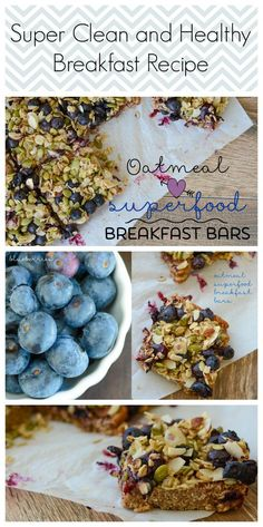 Super Clean and Healthy Breakfast Recipe | Oatmeal Superfood Breakfast Bars #recipe #breakfast #recipes #food