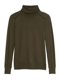 Washable Merino Turtleneck Sweater | Banana Republic