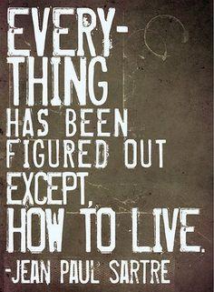 life, inspir quot, jeanpaul sartr, philosophi, sartr quot, wisdom, jeans, jean paul sartre quotes, live