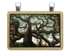 Live Oak Wood Pendant