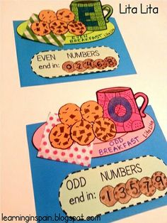 Odd and even breakfast craftivity.