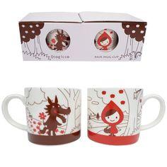 Red Hood and Wolf Mug Set