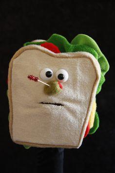Sammy the Sandwich, Professional Hand Puppet, Ventriloquist Puppet.