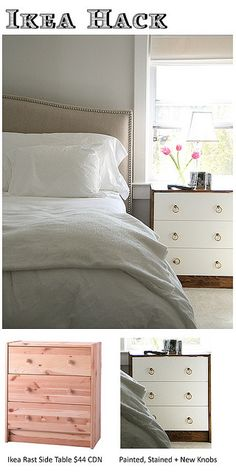 ikea rast hack...unreal possibilities of what you could do. Really wish I had seen this when needed bedside tables!