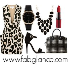 """#OOTD: Leopard into Spring"" by fabglance on Polyvore"