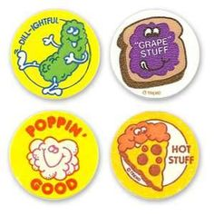 scratch and sniff stickers 1980s - Loved it when I got them on my school papers for good work.