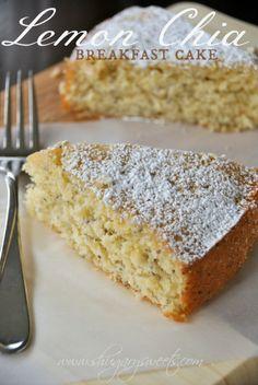 lemon chia, food recipes, coffee cakes, chia breakfast, coffee cake recipes