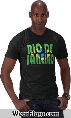 Rio de Janeiro #Brazil Flag T-shirt, $22.95