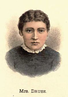 "Roxalana Druse. The last woman to be hanged in New York for murder. In 1884 she shot, chopped, and strangled her 72 year old husband and burned the remains. Her execution was protested by groups who didn't believe in hanging women, especialy since she couldn't have a ""jury of her peers."" Her hanging went wrong because she was too small to effect the neck-breaking mechanism intended, and instead slowly strangled. New York implemented the electric chair because of her gruesome execution."