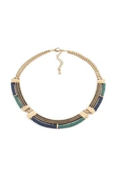 Antique Gold Necklace with Cord//