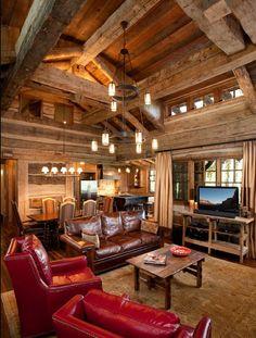 Pearson Design Group | Cabin Living Room
