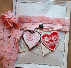 cute Valentine's stamped wrap