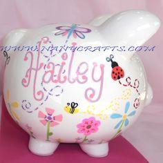 #Ladybug Piggy Bank for girls