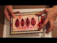 ▶ Studio SN: Card Making with Spectrum Noir Pens and Acetate - YouTube