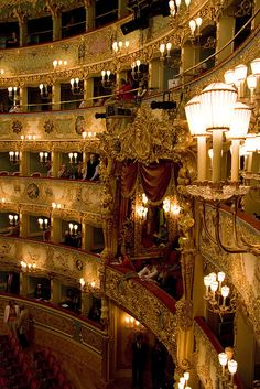 La Fenice Opera House in Venice, province of Venezia , Veneto Italy