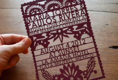 what a neat idea! papel picado party invites!