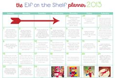 Elf on the Shelf Planner 2013 - One Happy Mama