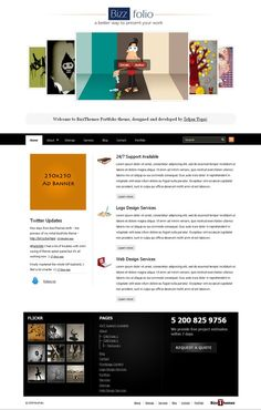 See this Wordpress Free Themes - BizzFolio BizzThemes !