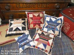 Heartspun Quilts ~ Pam Buda: New Pattern! Star Strings Quilt & Pincushion!!