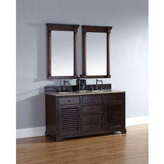"James Martin Savannah Collection 60"" Double Bathroom Vanity, Sable 238-104-5631"