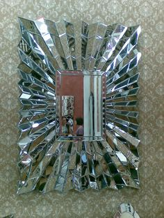 Sensa Faceted Bevelled Wave Mirror 130cm x 95cm