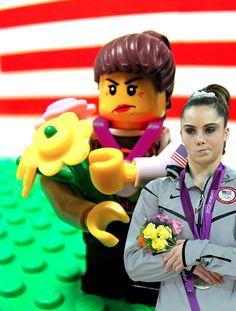 "Lego Olympics  Minifigure ""McKalya is not impressed in Lego."" gymnastics"