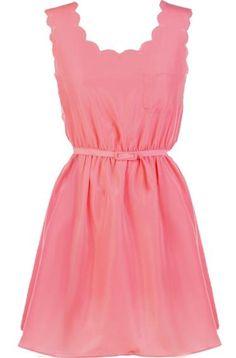 Scalloped Etiquette Dress