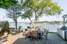 Extraordniary, enchanting direct waterfront home on Branford Harbor.  95ft deep dock plus private mooring dock.  12 Etzel Rd, Branford, CT - Offered by Jerry Sherman - http://www.raveis.com/mls/M9141194/12etzelrd_branford_ct