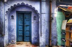 doors, travel agency, arch, purpl portal, purple, colors, india, blues, travel photography