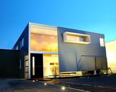 Fachada de residencia moderna.