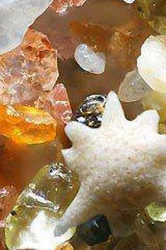 Magnified beach sand