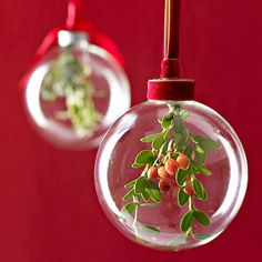 Clear diy ornaments