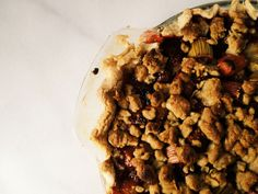 Gluten Free strawberry rhubarb pie.