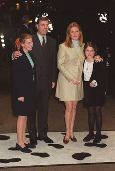 Sarah Ferguson and Prince Andrew with their daughters Beatrice and Eugenie