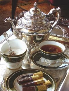 #silver afternoon tea...