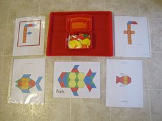 Pattern blocks for letter F
