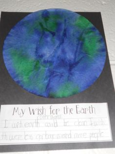 Earth Day wish and coffee filter globe
