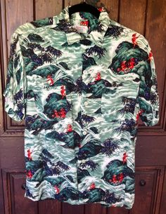 Very Rare 1950s rayon Hawaiian Aloha shirt by LaurelCanyon1969