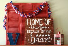 DIY: wooden 4th of july sign