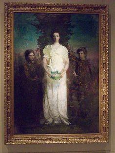 """My Children (Mary, Gerald, and Gladys Thayer)"" by Abbott Handerson Thayer"
