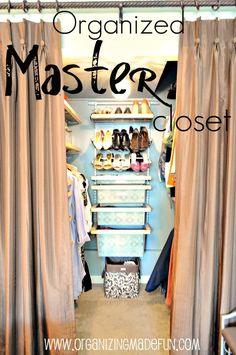 REAL life organizing tips for your closet via Organizing Made Fun - one of my goals before the holidays!
