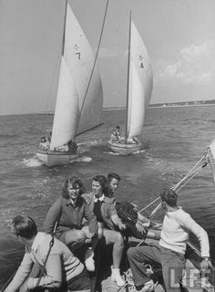 Sailing along the South Shore. Cape Cod, 1940.  ByAlfred Eisenstaedt