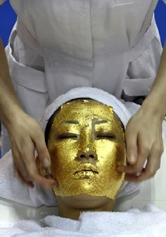 JUST FYI from an esthetician - this is a gimmick, such better ways to spend your money!... 24 Carat Gold Facial reduces wrinkles and sun spots.  $500 a pop