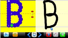 BT Handwriting Free ($0.00) The Free app teaches students how to write print capital letters. The full app teaches students how to write print capital and lowercase letters, numbers and their name in an interactive format. English and Spanish Alphabets.