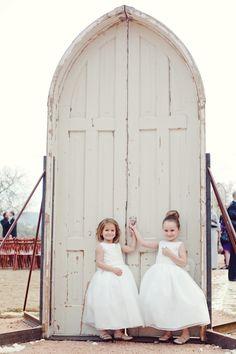 Sweet flower girls | photo by The Nichols « Southern Weddings Magazine