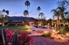 This home's outdoor lighting is majestic. Paradise Valley, AZ Coldwell Banker Residential Brokerage