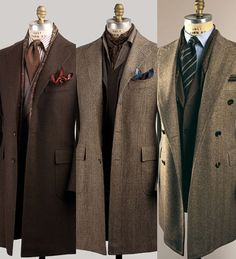 Real style. If only men commonly  dressed like this ... not that I could keep up! > Overcoat
